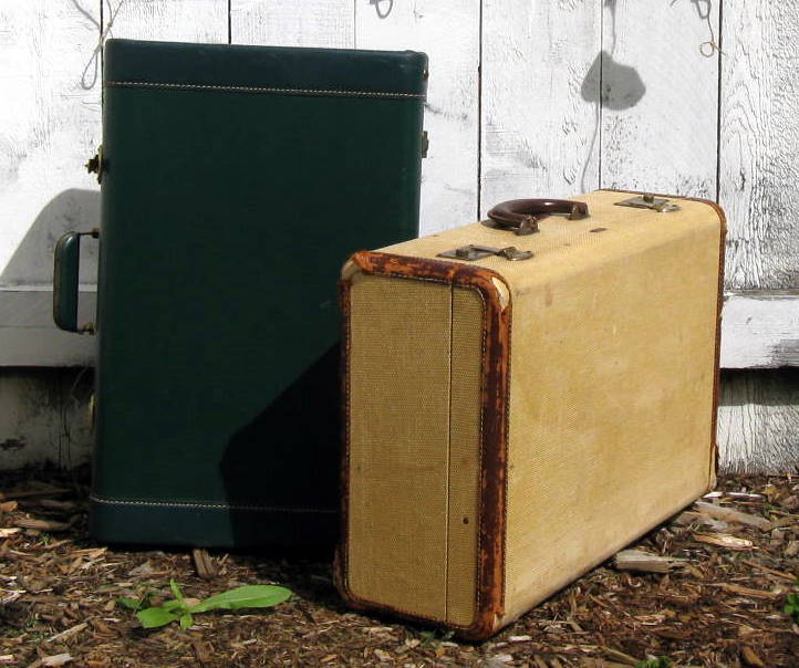 Vintage Suitcases: Great Blank Canvases For Decoupage - Mitzi's ...