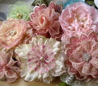 Creating rosette corsages for my etsy shop mitzis miscellany i started by gathering lengths of lace and hand sewing them to make ruffled rosettes i like the idea of combining the lace with silk flowers that have mightylinksfo