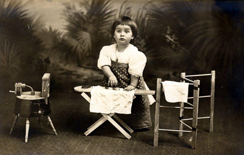 Mary ironing circa 1913