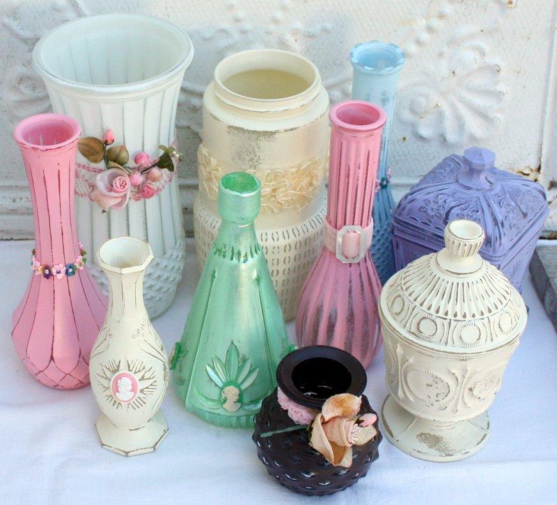 Up Cycled Flea Market Glass Vases Mitzis Miscellany