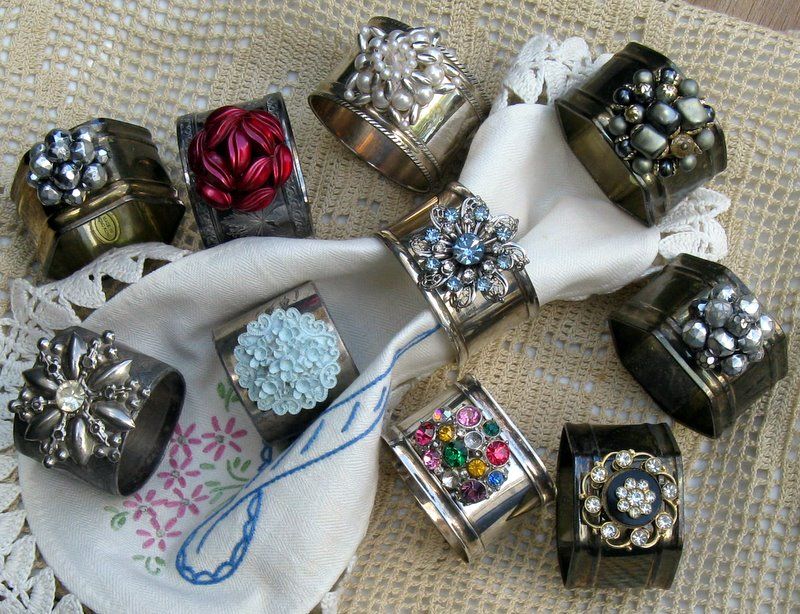 sellable craft ideas refurbished silver plate napkin rings mitzi s miscellany 2903