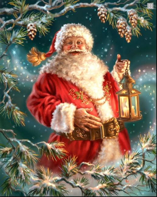 Santa with Lantern