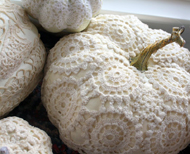 Crochet Covered Faux Pumpkins
