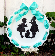 Easy Milk Glass Silhouette Plate