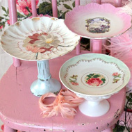 Craft Tutorial: Plate Pedestals from Flea Market Finds